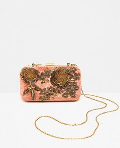 Image 1 of VELVET MINAUDIERE WITH EMBROIDERED DETAILS from Zara