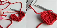 Fantastic step by step tutorial on how to crochet a heart with pictures for each step + tips and tricks. Best crocheted heart tutorial around!