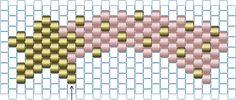 Tutoriel de tissage de perles brick stitch. Réalisez cette petite étoile filante en perles Miyuki à l'aide des photos :)