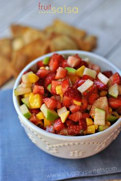 Delicious, easy, picnic perfect Fruit Salsa recipe