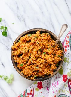 Delicious, healthy Mexican brown rice recipe! cookieandkate.com