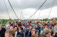 Dafne Schippers Bridge   Utrecht, The Netherlands   Bureau B+B #cycleway #bikepath #sharedpath #bridge #bikebridge #cycling #citybike #poeple #openingday