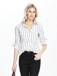 Riley-Fit Bold Stripe Shirt | Banana Republic