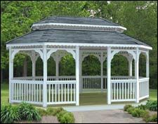 Oval Gazebo with double roof