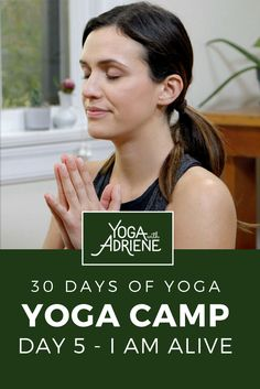 """Yoga Camp - Day 5 is here with the mantra I Am Alive! One moment to the next. Focus on your breath. """"Tell me, what is it you plan to do with your one wild and precious life? Morning Yoga Sequences, Free Yoga Videos, 30 Day Yoga, Home Yoga Practice, Yoga With Adriene, I Am Alive, Namaste Yoga, Pilates Workout, Health And Wellbeing"""