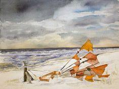 Winter an der Ostsee © Aquarell von Frank Koebsch
