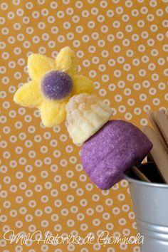 Brocheta 3 Chuches Morado-Amarillo