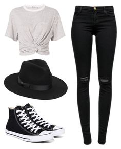 """Say you won't let go."" by lieneofficial ❤ liked on Polyvore featuring T By Alexander Wang, J Brand, Converse and Lack of Color"