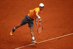 Kei Nishikori of Japan in action against David Ferrer of Spain during day six of the Mutua Madrid Open tennis at La Caja Magica on May 11, 2017 in Madrid, Spain. 世界30位のダビド・フェレール(スペイン)に6-4、6-3でストレート勝ちし、5年連続8強入りを果たした。