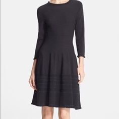 Kate Spade Pointelle Dress Size Med Black Sweater dress, so comfy and such a classic! Could be worn in any season and made from high quality material. The material has some stretch so the size can vary. kate spade Dresses Long Sleeve