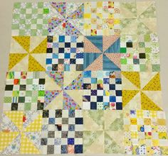 A Quilting Chick: Patches and Pinwheels Progress - Leaders/Enders