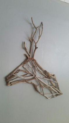 Twig Crafts, Nature Crafts, Home Crafts, Diy And Crafts, Arts And Crafts, Driftwood Projects, Driftwood Art, Twig Art, Branch Art