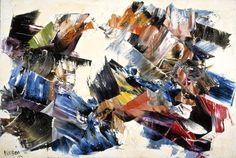 Marcelle Ferron, Ghost Hills  Oil on canvas  1962.