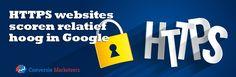 'De resultaten op de eerste zoekresultatenpagina bevatten vaak websites met HTTPS URL's. Maar liefst 30% van de eerste pagina's van alle zoekresultaten bevat minstens één of meer HTTPS website. '  Lees meer over Google en HTTPS url's in ons laatste blogartikel:  http://conversiemarketeers.nl/nl/blog/zoekmachine-optimalisatie/https-websites-scoren-relatief-hoog-in-google/  #blog #google #seo #HTTPS #onlinemarketing