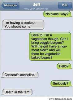 Funny text message joke