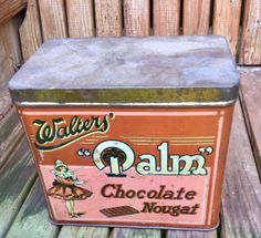 Walters Palm vintage toffee tin | eBay