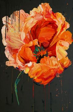 "Saatchi Online Artist: carmelo blandino; Acrylic 2013 Painting ""Orange Poppy"""