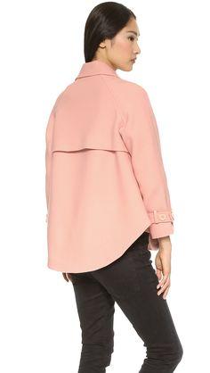 Rebecca minkoff Pierre Cape Coat - Blush in Pink (Blush) | Lyst