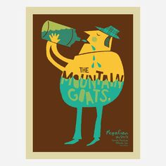 The Mountain Goats silkscreen poster.