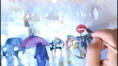 수채화로 비오는 야경 그리기 how to draw a rainy night in watercolor
