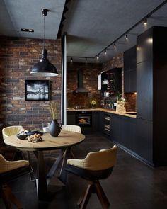 Small Space Kitchen, Kitchen Room Design, Home Room Design, Modern Kitchen Design, Home Decor Kitchen, Interior Design Kitchen, House Design, Small Spaces, Kitchen Ideas
