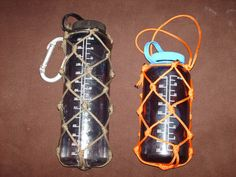Paracord water bottle holder tutorial at http://www.knifeforums.com/forums/showtopic.php?tid/771863/post/974596/hl/tutorial/
