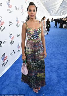 Braid expectations! Kerry Washington  dazzled on the blue carpet for the Independent Spirit Awards kicked off in Santa Monica, California, on Saturday afternoon