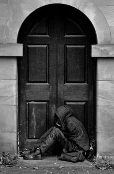 I had a really hard day today, but I came home, opened the door to a place I could lay my head, be warm and dry. This person did not. Bless her Lord and open that door. Shame on me for overlooking  and forgetting my blessings.