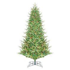 7.5 ft. Tillamook Full Multi Colored Pre-Lit Christmas Tree