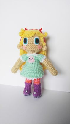 Amigurumi Star Butterfly Crochet Doll Star Vs the Forces of Evil (30.00 USD) by MilliesCrochetHouse
