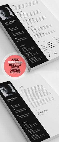 50 Free Resume Templates: Best Of 2018 - 43 Resume Template Examples, Simple Resume Template, Modern Resume Template, Creative Resume Templates, Brochure Template, Resume Writing Tips, Free Resume, Lettering, Professional Cv