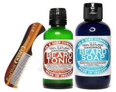 drkSoapCompany - All Natural Deluxe Beard Care Set For Men Gift For Him Beard Soap Beard Tonic