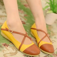 ENMAYER Green Brown Orange 2014 new flat shoes cheaper casuals comfortable flat heel flat women's shoes spring / autumn $48.53