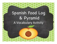 Get students talking and writing about what they eat and what they SHOULD eat in Spanish