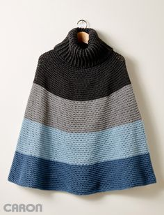 Yarnspirations.com - Caron Cozy Cowl Cape - Patterns | Yarnspirations | crochet | free pattern | poncho