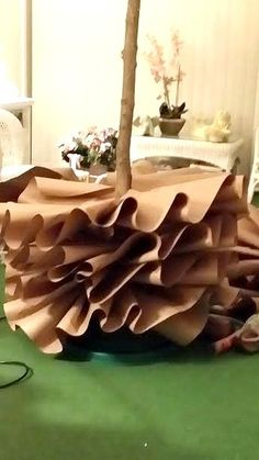 How to Make a Full-Size Brown Paper Christmas Tree