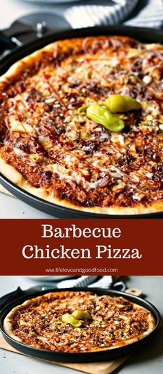 BBQ Chicken Pizza is the easiest gourmet pizza youll ever make at home. Topped with spicy sauce mozzarella cheese chicken red onions and bacon this is a weeknight meal your family will love. Easy Pasta Recipes, Pizza Recipes, Brunch Recipes, Beef Recipes, Chicken Recipes, Dinner Recipes, Brunch Ideas, Flatbread Recipes, Summer Recipes