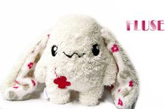 Set of Two Big Fluse Kawaii Plush Bunnys red  Lucky by Fluse123, €40.00