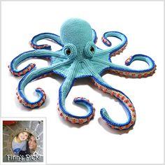 Finn's Pick: Claude the Octopus  #crochet design by Patchwork Moose, featured in @SimplyCrochet_ #amigurumi #octopus