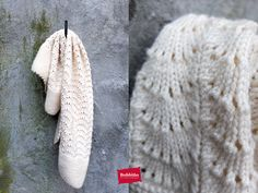 Bobbiño kids ♥ knitted wool children's blanket, ajour off-white