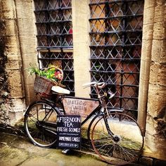 the Vaults and Garden Café, Oxford Dinner Party Table, Party Tables, Lunch Delivery, Scottish English, Touring Bicycles, Brunch Decor, Cafe Sign, Cozy Cafe, Bicycle Art