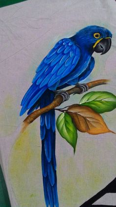 Animal Paintings, Animal Drawings, Fabric Painting, Painting & Drawing, Parrot Painting, Peacock Wall Art, Fabric Paint Designs, Oil Pastel Drawings, Buddha Art