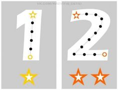 Estupenda manualidad para aprender el trazo de los números (1)