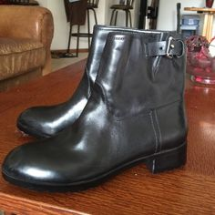 Black Leather Moto Boots NWT Black leather moto boot. Never worn. NWT GAP Shoes
