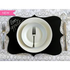 French shaped chalkboard place mats | Buy Online in South Africa | MzansiStore.com