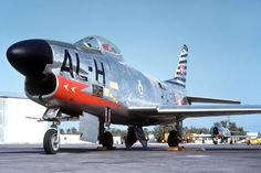 North American F-86D Sabre, serial 51-6034, code AL-H, of Eskadrille 726 based at Ålborg. This picture was taken during a deployment to Wheelus in Libya in the late 1950s, where the Danish Sabre units routinely deployed to practice live missile shooting.
