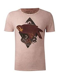 Label Lab Abstract hawk graphic T-shirt - House of Fraser