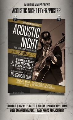 Acoustic Night Flyer / Poster