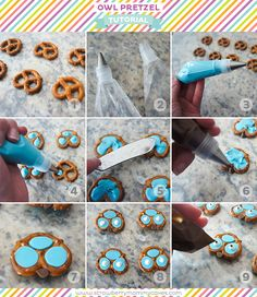 Chocolate Owl Pretzel Tutorial Pinned by www.myowlbarn.com