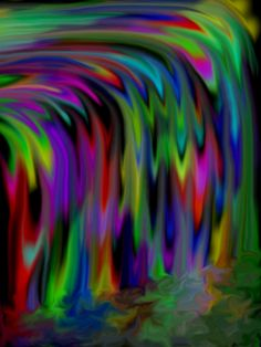 Psychedelic Waterfall.  My latest foray into digital art.